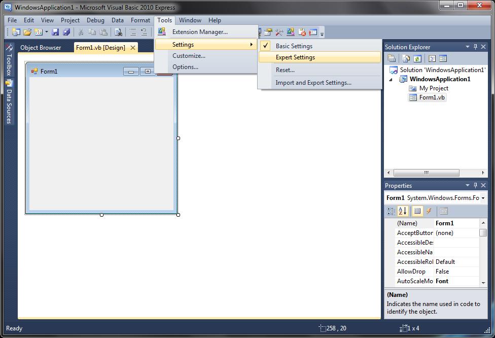 Visual Basic programına ait bir görsel