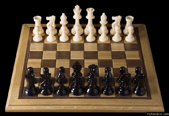 Satranç Oyuna başlamadan önce taşların dizilişi