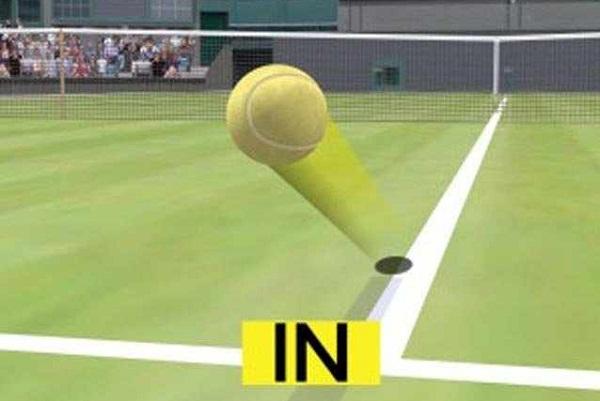 İşte şahin gözü teknolojisi yardımı ile topun içeride olduğunu gösteren bir görüntü