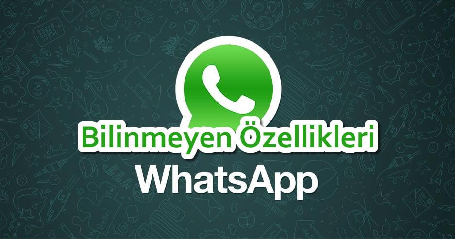 Whatsapp Bilinmeyen özellikleri